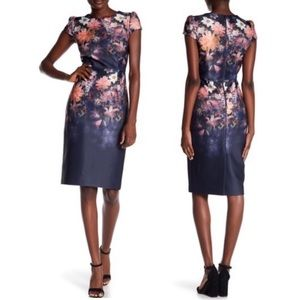 Betsey Johnson Floral Scuba Sheath Dress